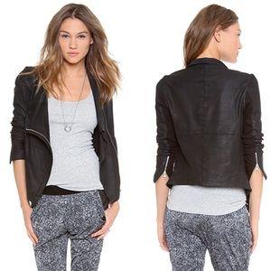 Muubaa Drape Leather Jacket